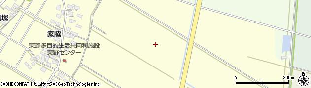 山形県酒田市豊里中割周辺の地図