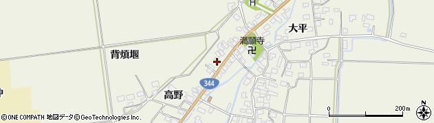 山形県酒田市安田高野30周辺の地図