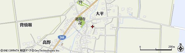 山形県酒田市安田大平204周辺の地図