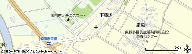 山形県酒田市豊里下藤塚95周辺の地図