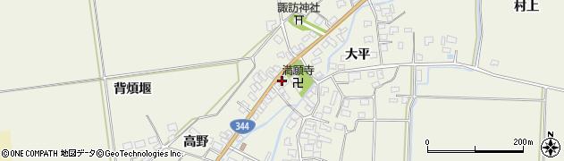 山形県酒田市安田大平168周辺の地図