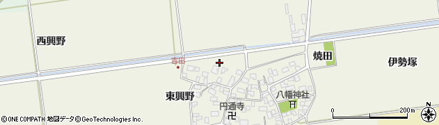 山形県酒田市吉田洞ノ上45周辺の地図