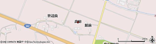 岩手県一関市厳美町(高田)周辺の地図