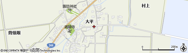 山形県酒田市安田大平52周辺の地図