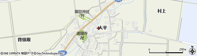 山形県酒田市安田大平54周辺の地図