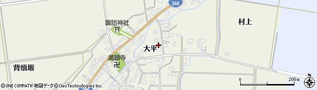 山形県酒田市安田大平49周辺の地図