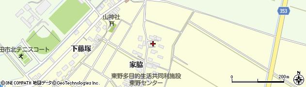 山形県酒田市豊里家脇8周辺の地図