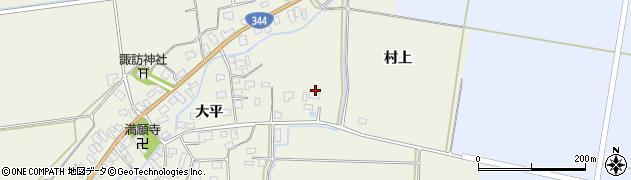 山形県酒田市安田大平3周辺の地図