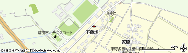 山形県酒田市豊里下藤塚88周辺の地図