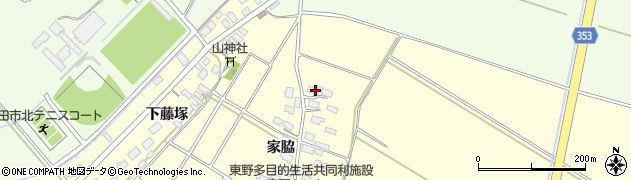 山形県酒田市豊里家脇7周辺の地図