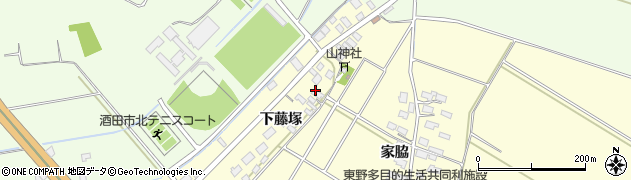 山形県酒田市豊里下藤塚86周辺の地図