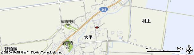 山形県酒田市安田大平39周辺の地図