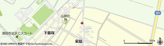 山形県酒田市豊里下藤塚41周辺の地図