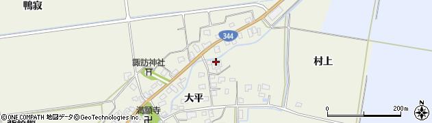 山形県酒田市安田大平41周辺の地図