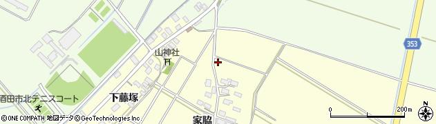 山形県酒田市豊里家脇1周辺の地図