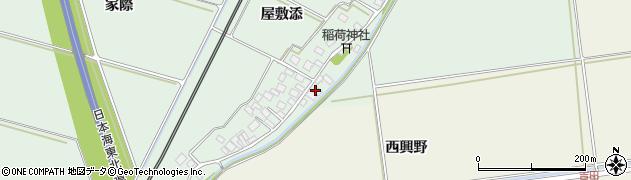 山形県酒田市保岡屋敷添122周辺の地図