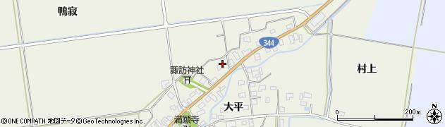 山形県酒田市安田大平197周辺の地図