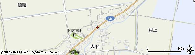 山形県酒田市安田大平252周辺の地図