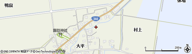 山形県酒田市安田大平233周辺の地図