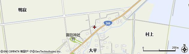 山形県酒田市安田大平189周辺の地図