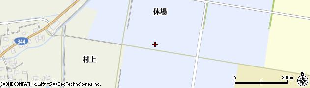 山形県酒田市上安田休場周辺の地図