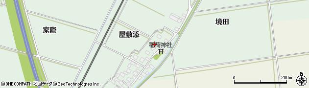 山形県酒田市保岡屋敷添34周辺の地図