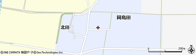 山形県酒田市岡島田北田18周辺の地図