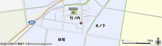 山形県酒田市上安田竹ノ内7周辺の地図