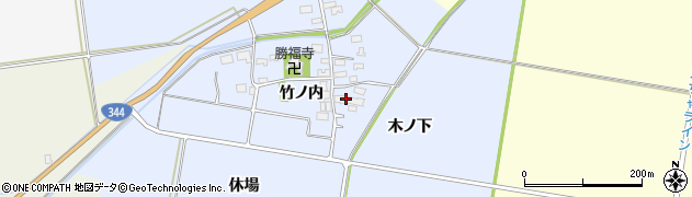 山形県酒田市上安田竹ノ内14周辺の地図
