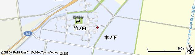 山形県酒田市上安田竹ノ内6周辺の地図