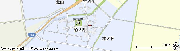 山形県酒田市上安田竹ノ内4周辺の地図