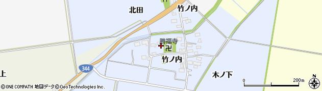 山形県酒田市上安田竹ノ内37周辺の地図