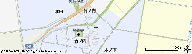 山形県酒田市上安田竹ノ内1周辺の地図