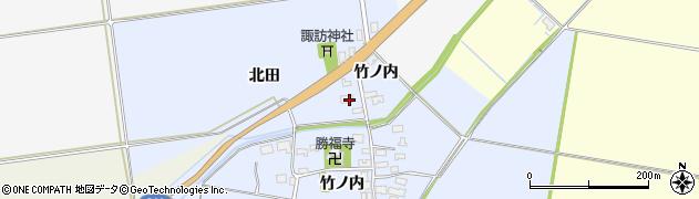 山形県酒田市上安田北田12周辺の地図