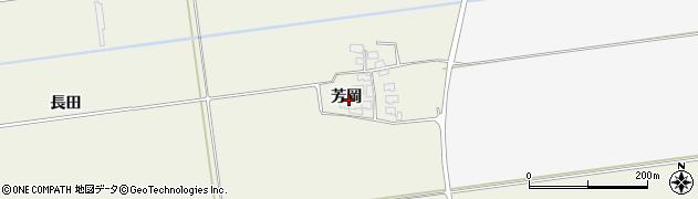 山形県酒田市安田芳岡23周辺の地図