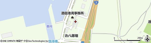 山形県酒田市宮海治八郎畑周辺の地図