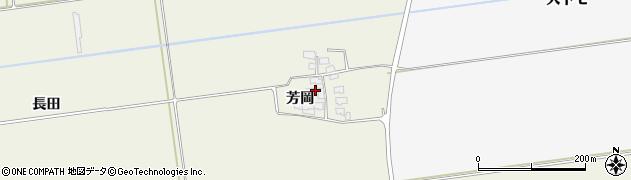 山形県酒田市安田芳岡21周辺の地図