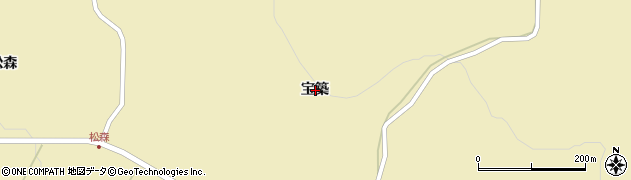 岩手県一関市千厩町奥玉宝築周辺の地図