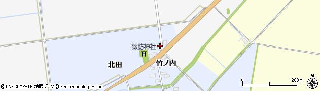 山形県酒田市上安田北田19周辺の地図