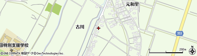 山形県酒田市藤塚南畑3周辺の地図