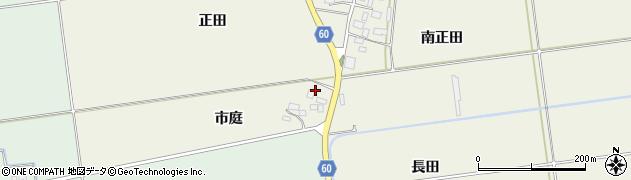 山形県酒田市庭田市庭周辺の地図