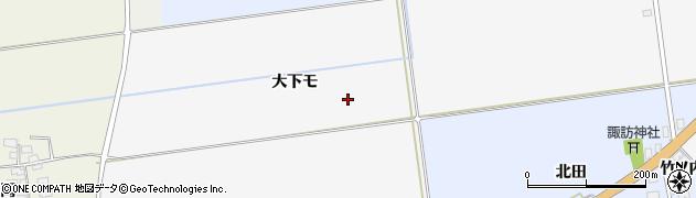 山形県酒田市刈穂大下モ周辺の地図