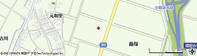 山形県酒田市藤塚(家の前)周辺の地図