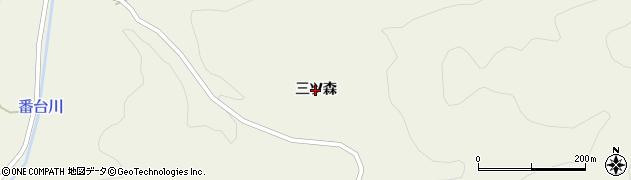 岩手県一関市舞川(三ツ森)周辺の地図