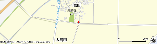 山形県酒田市大島田島田103周辺の地図