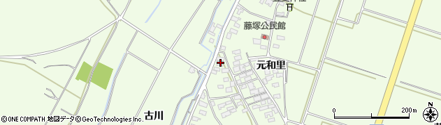 山形県酒田市藤塚元和里46周辺の地図