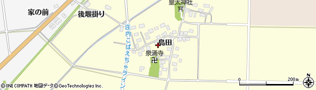 山形県酒田市大島田島田47周辺の地図