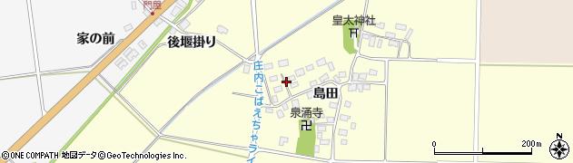 山形県酒田市大島田島田36周辺の地図