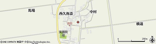 山形県酒田市庭田中村91周辺の地図