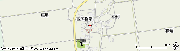 山形県酒田市庭田西久祢添1周辺の地図